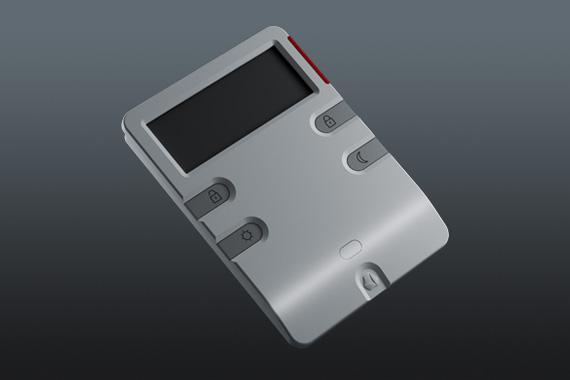 Klawiatura domowego systemu alarmowego projektowanie produktu dla EBS przez Biuro Projektowe Grid