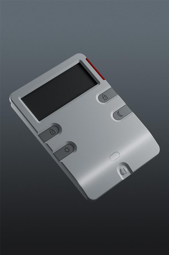 Klawiatura domowego systemu alarmowego projektowanie produktu dla EBS przez Grid Studio Projektowe
