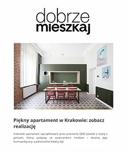 Biuro projektowe Grid projekt wnętrza aparatamentu Dobrze mieszkaj