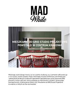Biuro Projektowe Grid projekt mieszkania dla Sleeping in Kraków Mad White