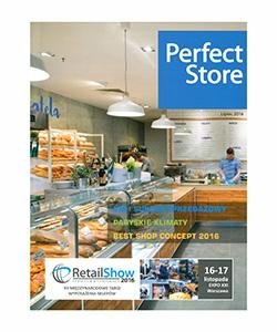 Biuro projektowe Grid projekt cukierni La Bagatela publikacja w czasopiśmie Perfect Store